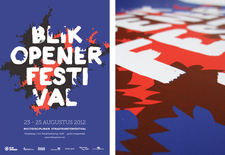 The 2012 poster design and the screenprinted version of the poster