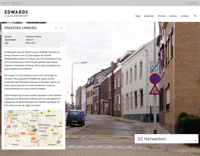 Interested visitors can read extra information about the projects