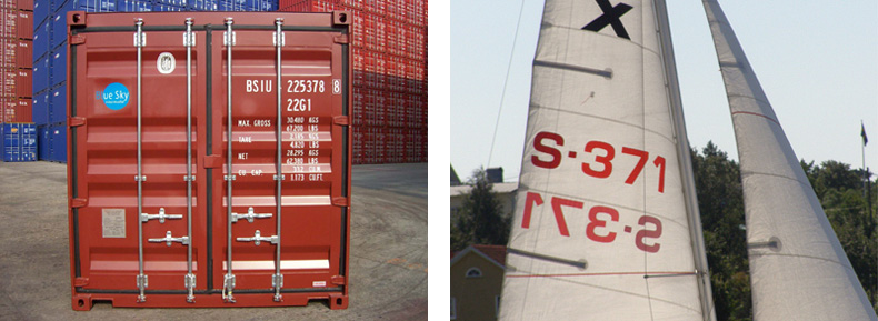 The style of the campaign was based on the typography that's typically found on sails and sea containers.