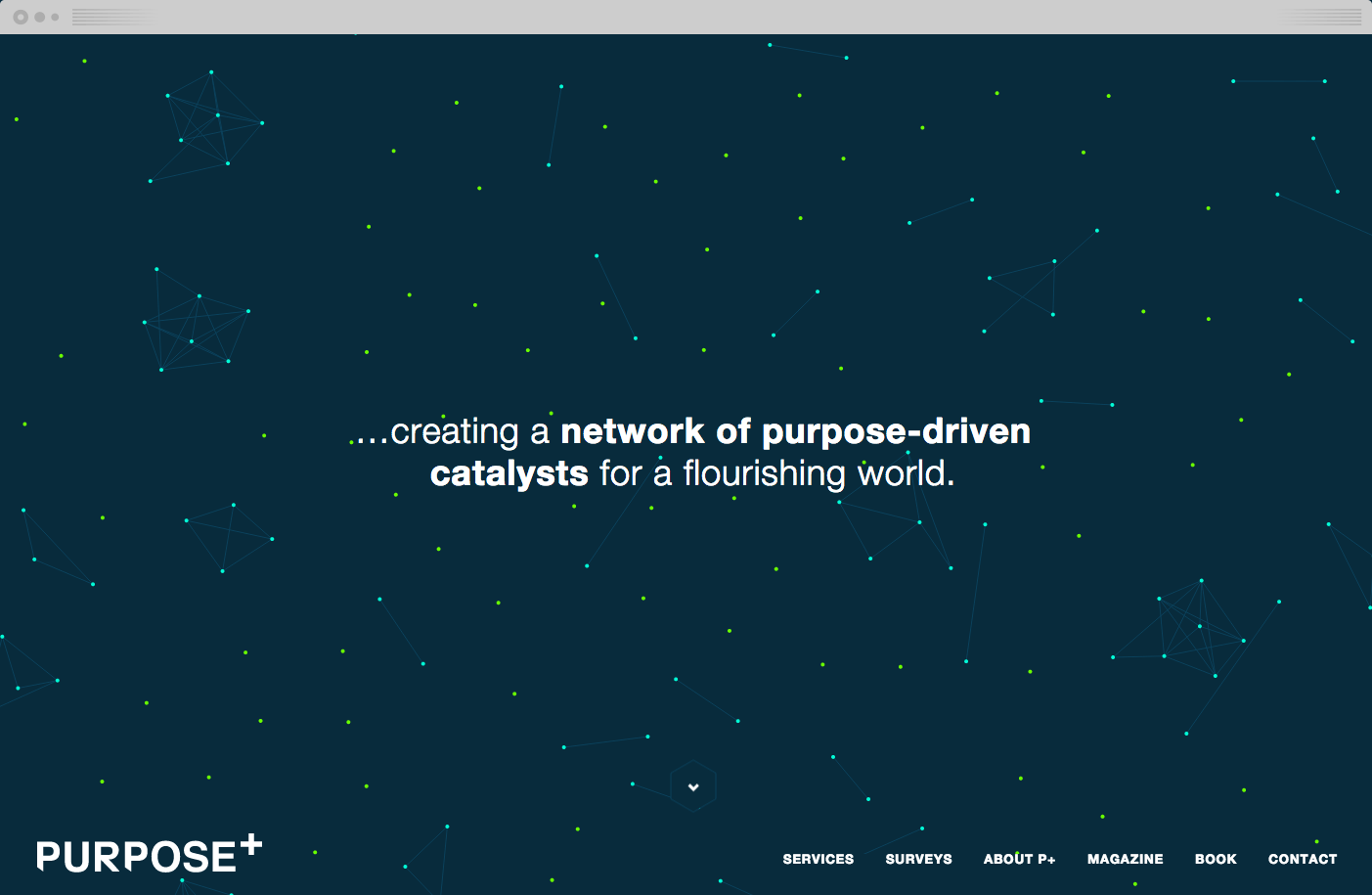 The interactive animation on the homepage